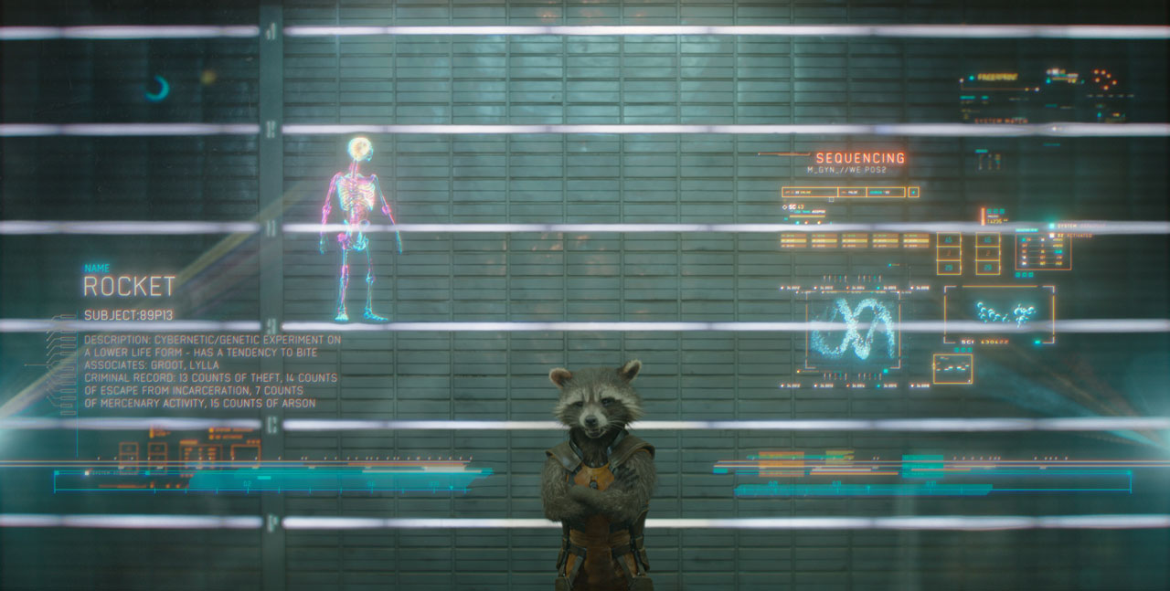 Marvel's Guardians Of The Galaxy Rocket Racoon (voiced by Bradley Cooper) Ph: Film Frame ©Marvel 2014