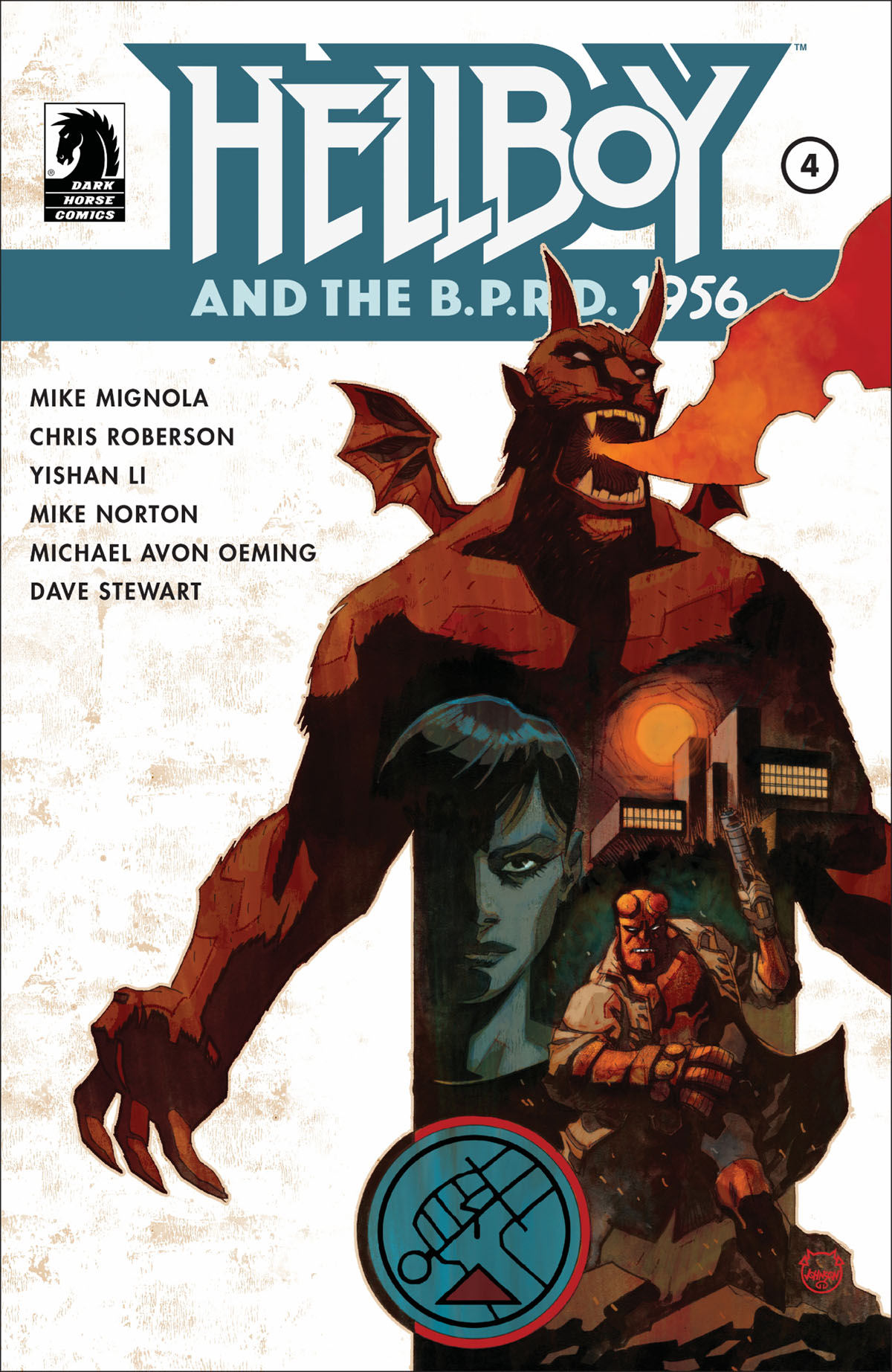Hellboy and the BPRD 1956 #4 cover