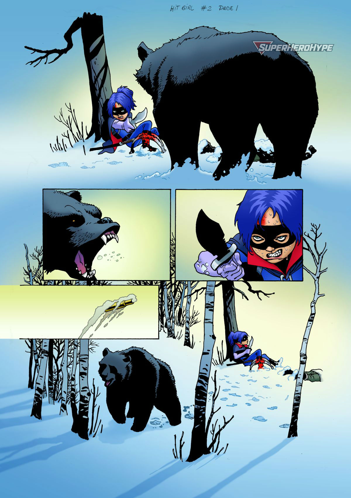 Hit-Girl #6 Page 1