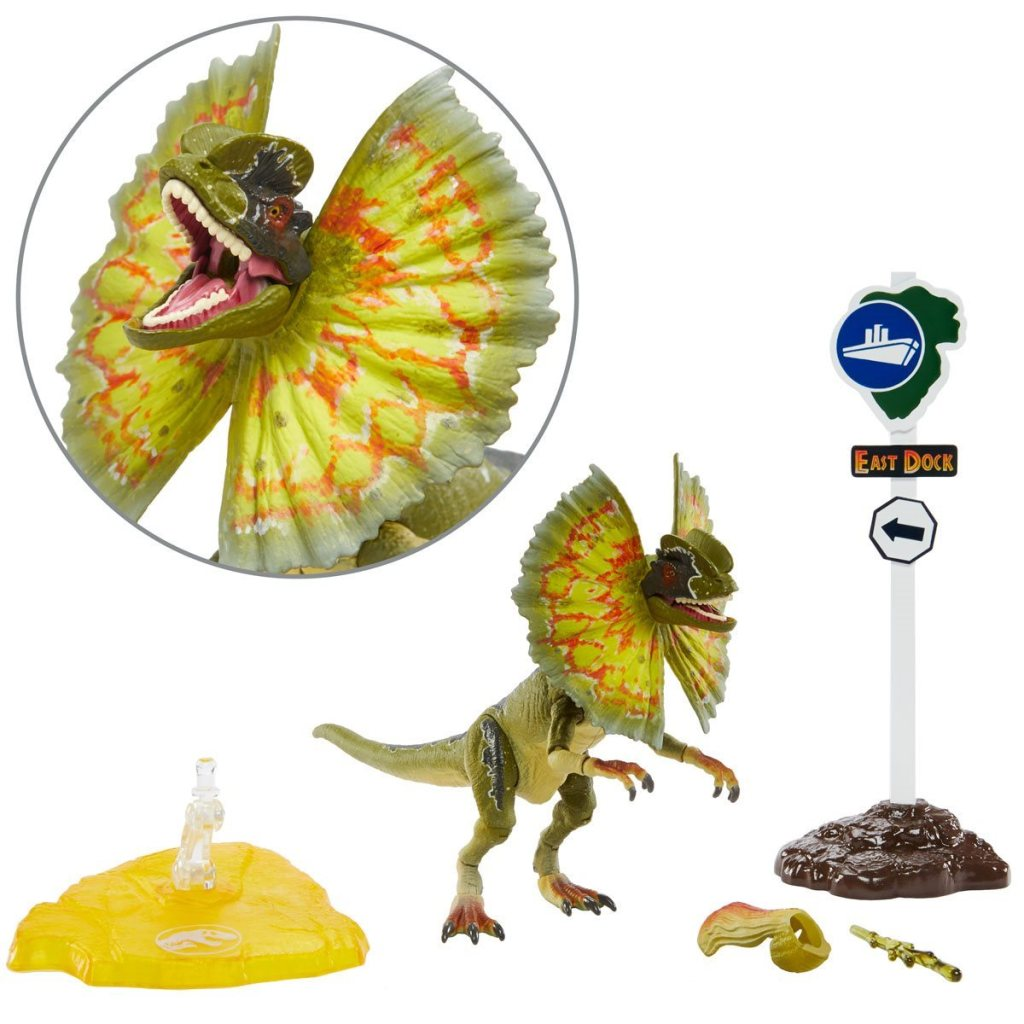 Dilophosaurus with accessories