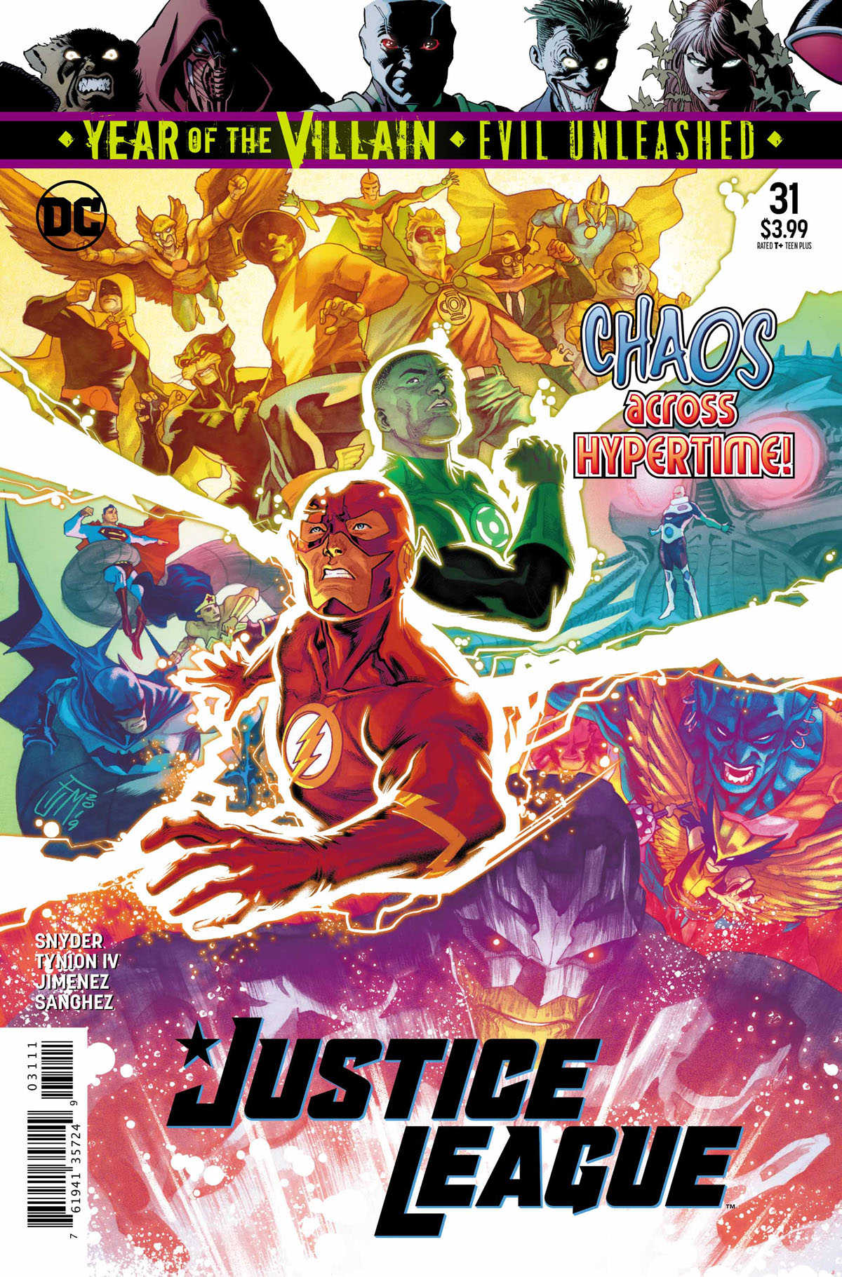 Justice League #31 cover