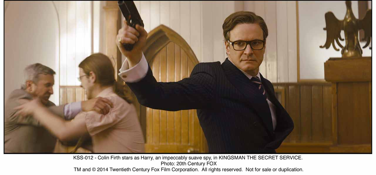 KSS-012 - Colin Firth stars as Harry, an impeccably suave spy, in KINGSMAN THE SECRET SERVICE.