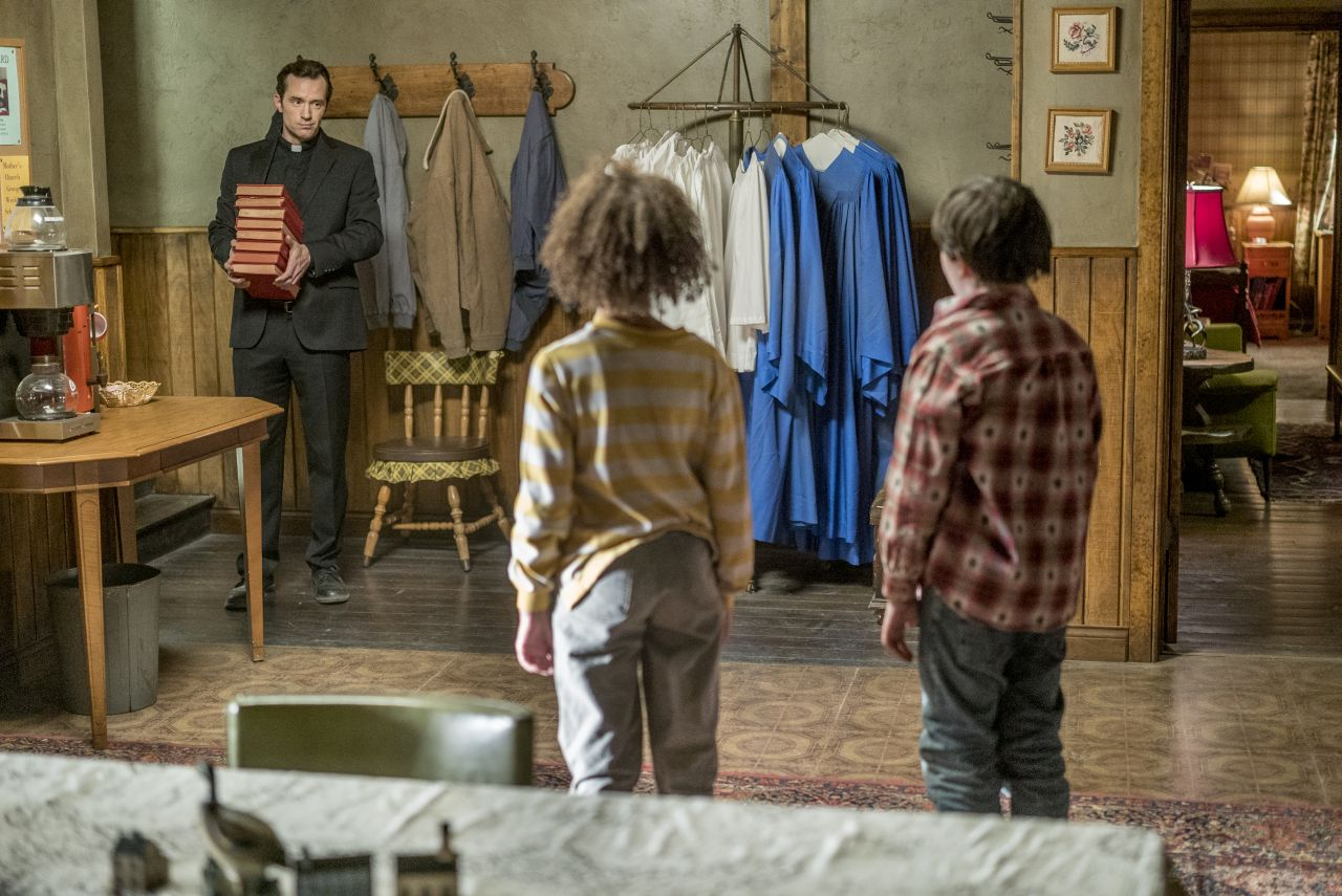 Nathan Darrow as John Custer, Dominic Ruggieri as Young Jesse, Ashley Aufderheide as Young Tulip- Preacher _ Season 1, Episode 6 - Photo Credit: Lewis Jacobs/Sony Pictures Television/AMC