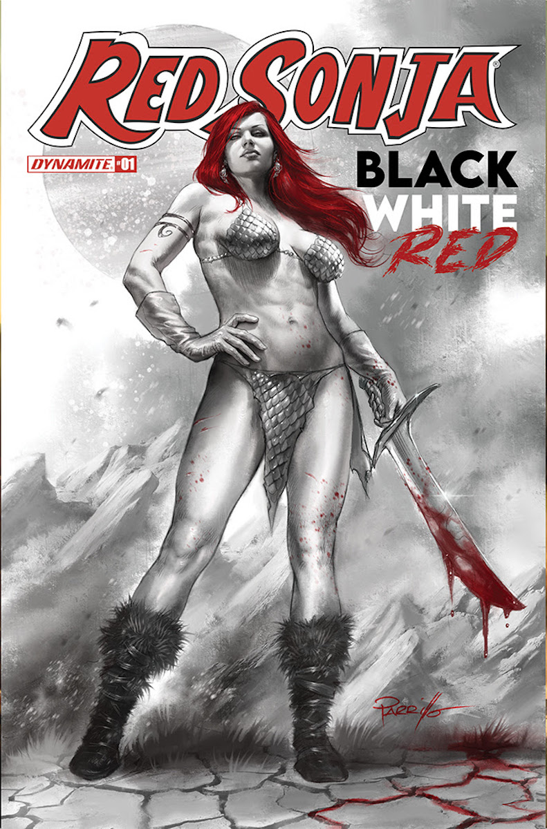 Red Sonja: Black, White, Red #1 Cover by Lucio Parrillo