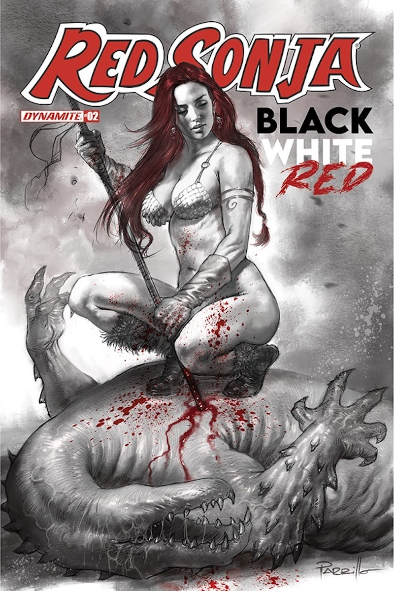 Red Sonja: Black, White, Red #2 Cover by Lucio Parrillo