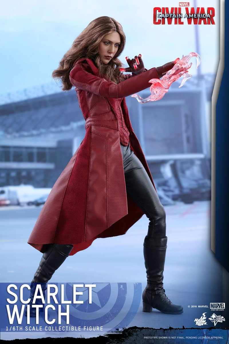 Scarlet Witch Hot Toys Collectible Figure for Captain America