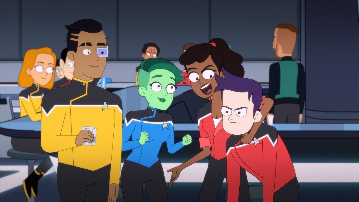 Eugene Cordero as Ensign Rutherford, Noel Wells as Ensign Tendi , Tawny Newsome as Ensign Mariner and Jack Quaid as Ensign Boimler