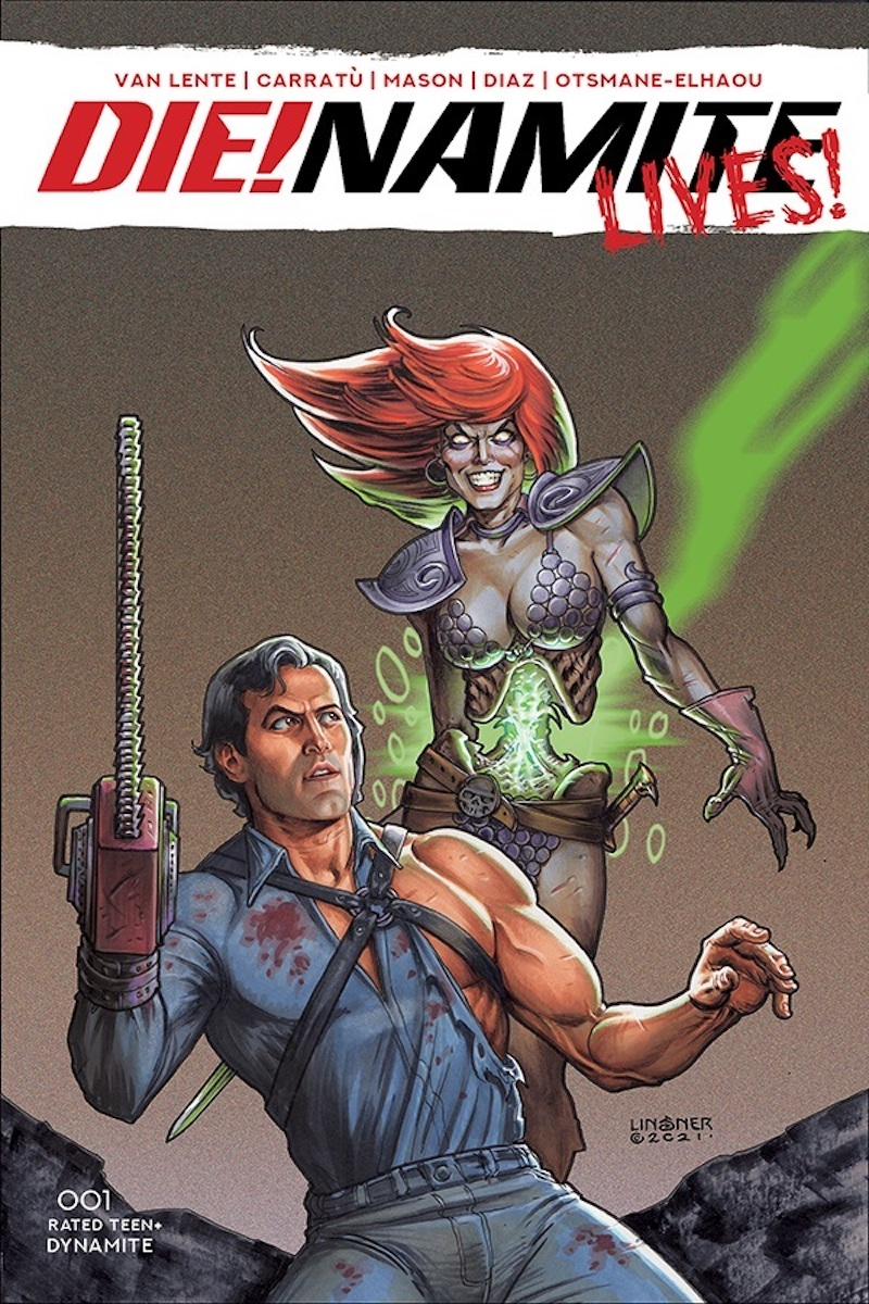 DIE!namite Lives! #1 Cover by Joseph Michael Linsner