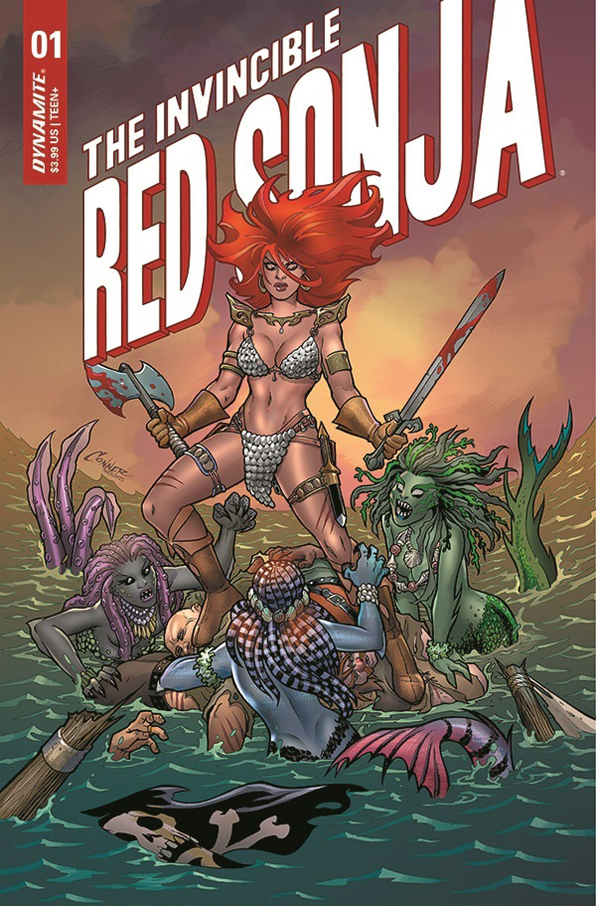 The Invincible Red Sonja #1 cover by Amanda Conner