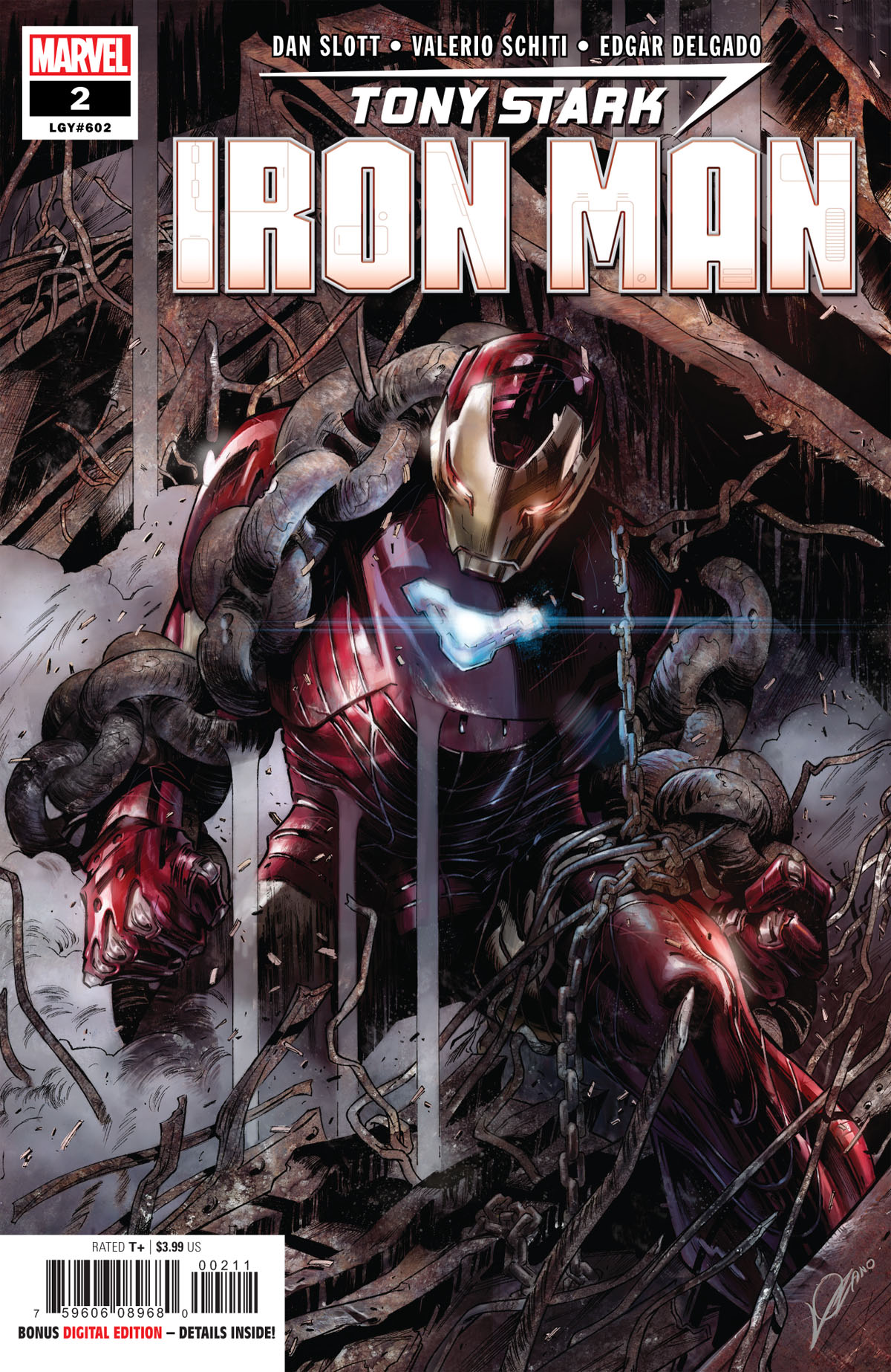 Tony Stark: Iron Man #2 cover