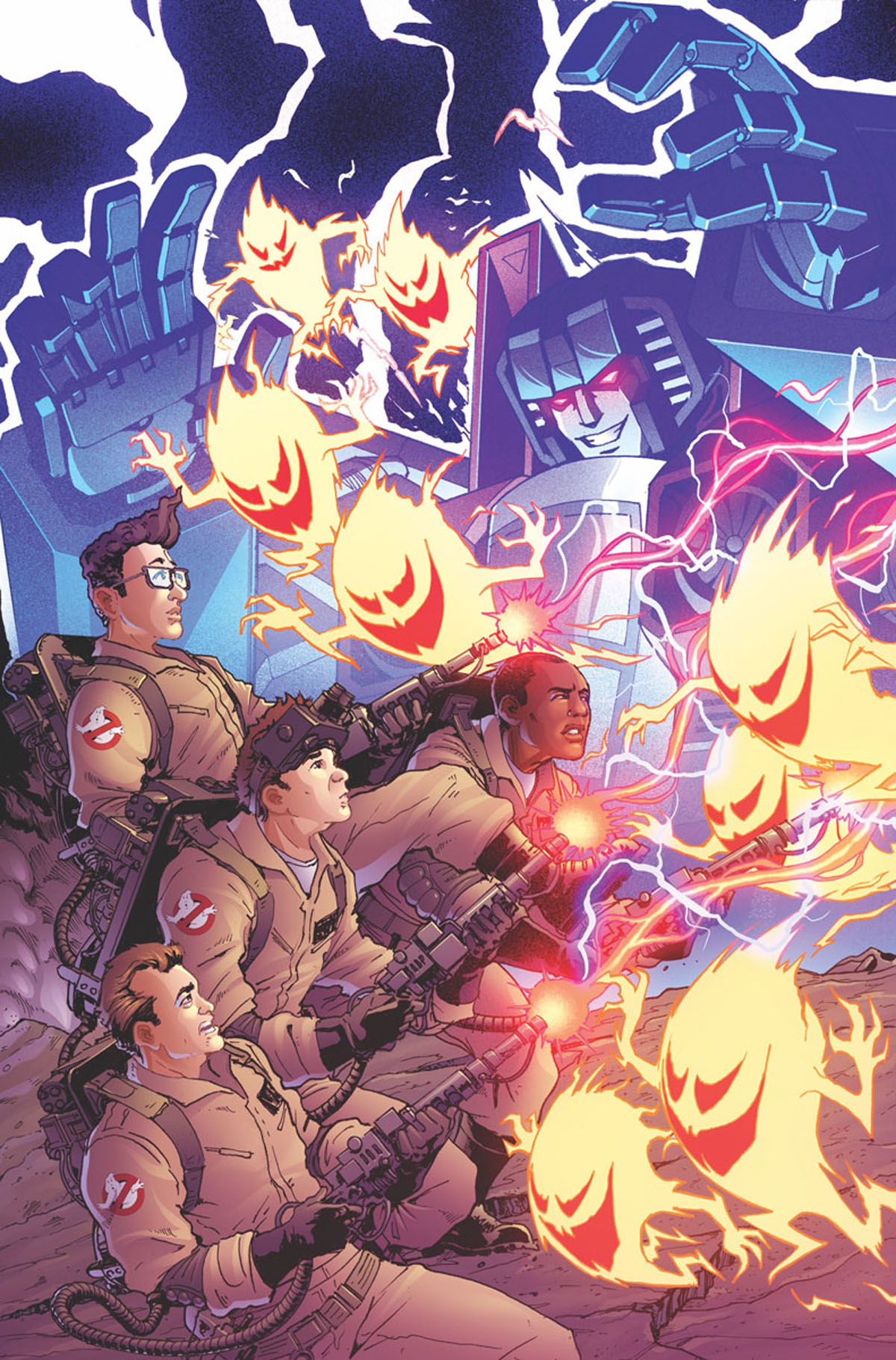 Transformers/Ghostbusters #1 cover