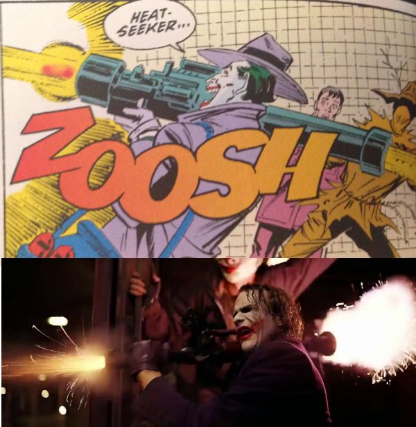 from comics to movies visual references in the dark
